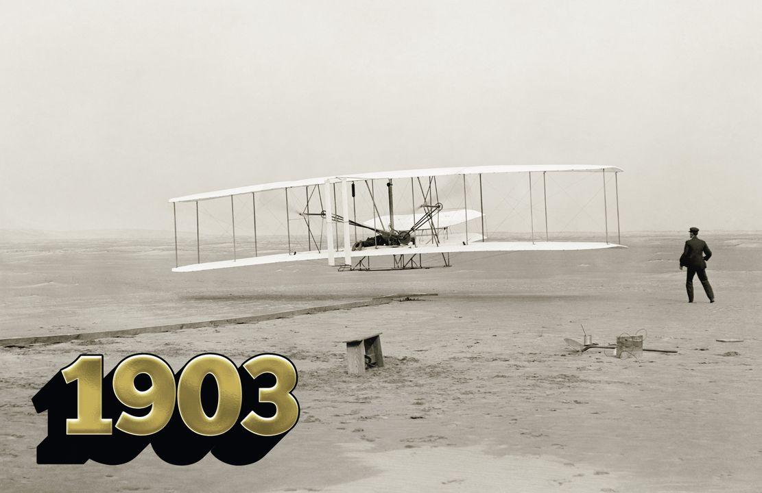 De allereerste bemande vlucht / Gebroeders Wright / Wright Flyer