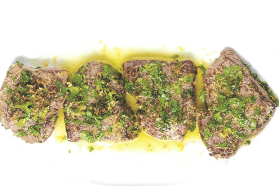 Image de la recette Pavés de bœuf à la gremolata