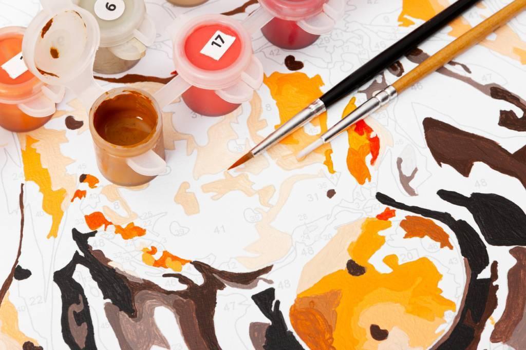 Peinture par numéro activité œuvre facile