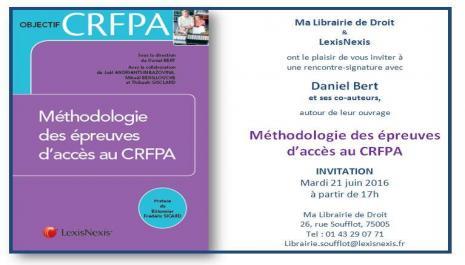 Méthodologie des épreuves d'accès au CRFPA, coll.
