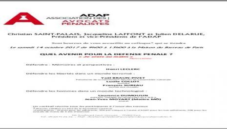 Compte-rendu du colloque de l'ADAP