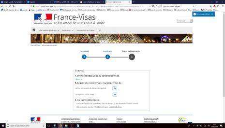 Dépôt d'une demande de visa de court ou de long séjour