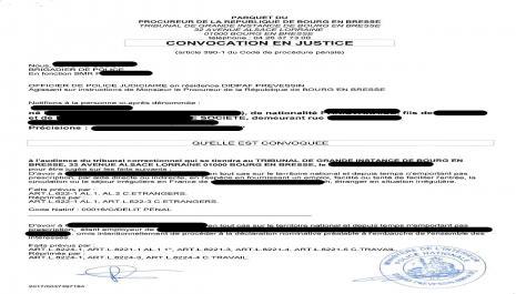 La convocation par officier de police judiciaire devant le Tribunal correctionnel