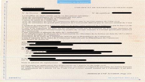 Certificat de nationalité française : le document prouvant la nationalité française