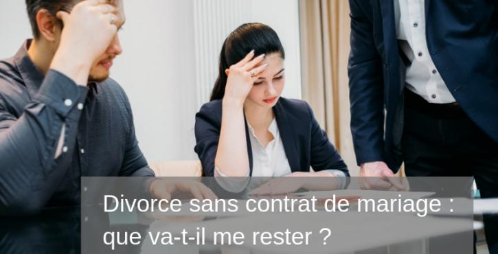 Divorce sans contrat de mariage : les conséquences sur la liquidation