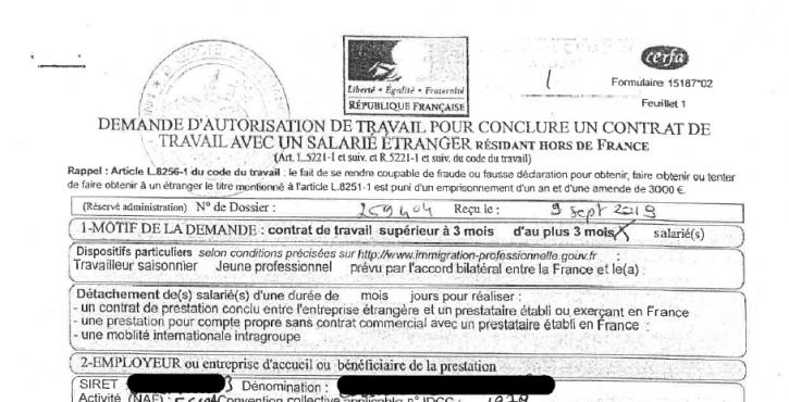 Le délai d'obtention d'une autorisation de travail par un employeur