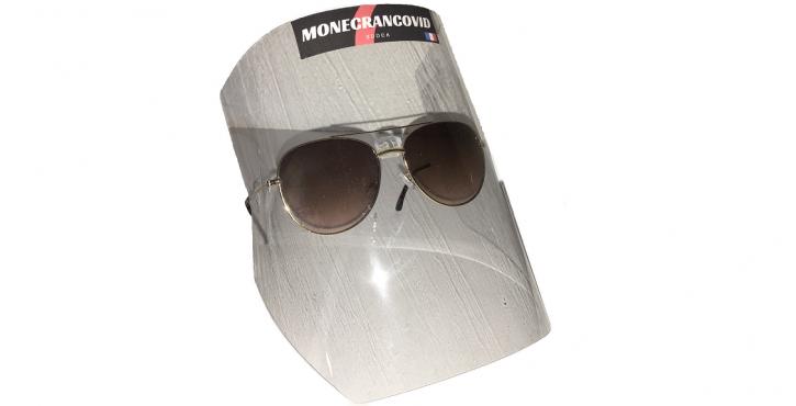 Visiere masque de protection COVID 19 - ecran facial pour lunettes