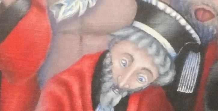 """""""Les Juges Intègres"""", tableau inspiré de Jan van Eyck"""