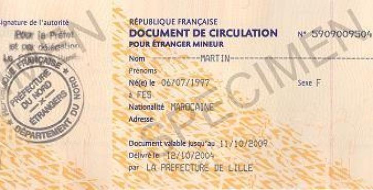 Les règles pour obtenir un document de circulation pour étranger mineur