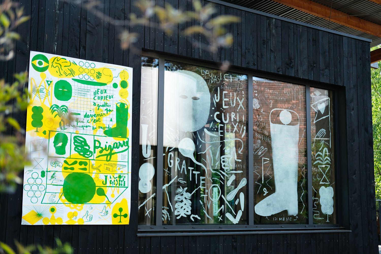 Le Grand T - Quartier - Fred Fivaz et Bonnefrite - Affiche - Peinture