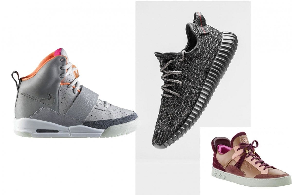 90f295961adc Nike Air Yeezy – Adidas Yeezy Boost 350 – Louis Vuitton x Kanye West
