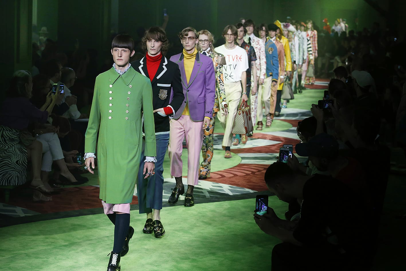 Milan Fashion Week SS17 : Green With Envy For Gucci