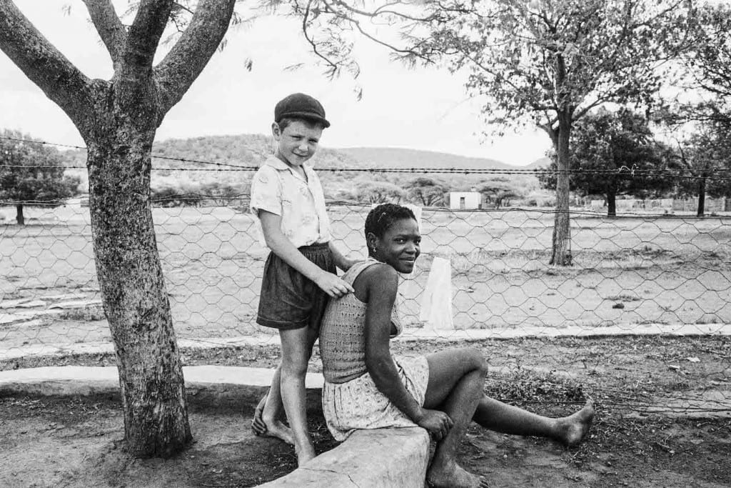 Some Afrikaners: A farmer's son with his nursemaid, Heimweeberg, Nietverdiend, Western Transvaal