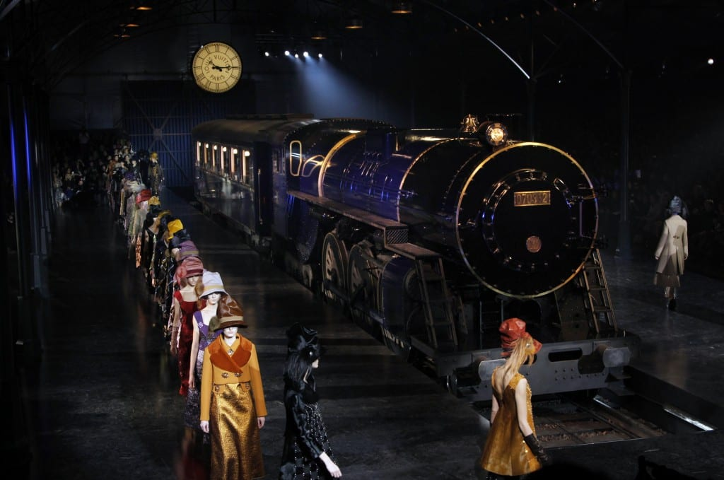 Models present creations by US fashion designer Marc Jacobs during the Louis Vuitton Fall/Winter 2012-2013 ready-to-wear collection show, on March 7, 2012 in Paris. AFP PHOTO/FRANCOIS GUILLOT