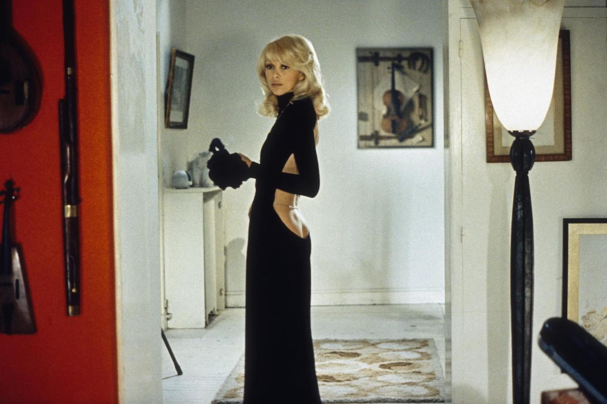 French Actress Mireille Darc On The Set Of Le Grand Blond Avec Une Chaussure Noire, Written And Directed By Yves Robert. (Photo By Sunset Boulevard/Corbis Via Getty Images)
