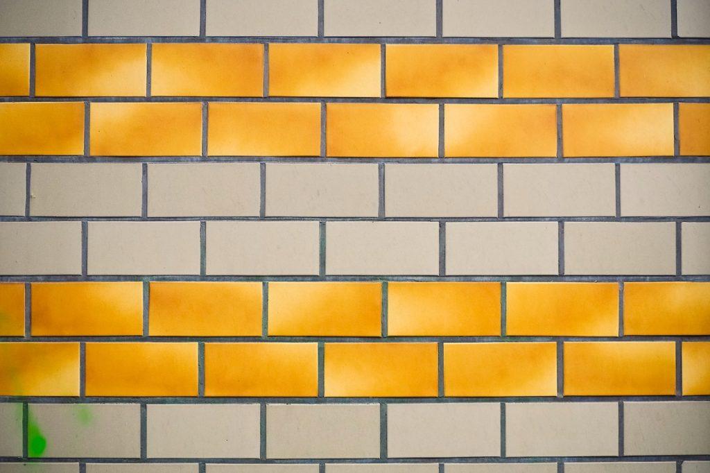 carrelage adhésif motif brique