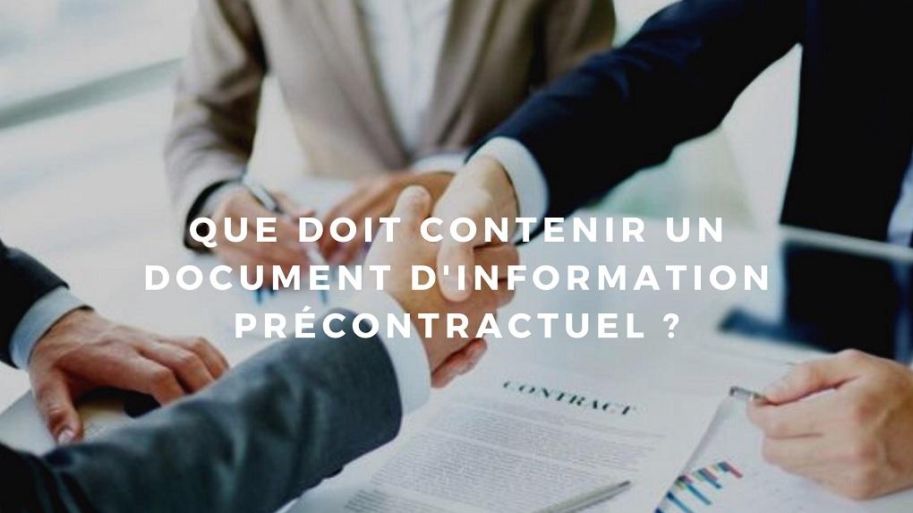 document d'information contractuel