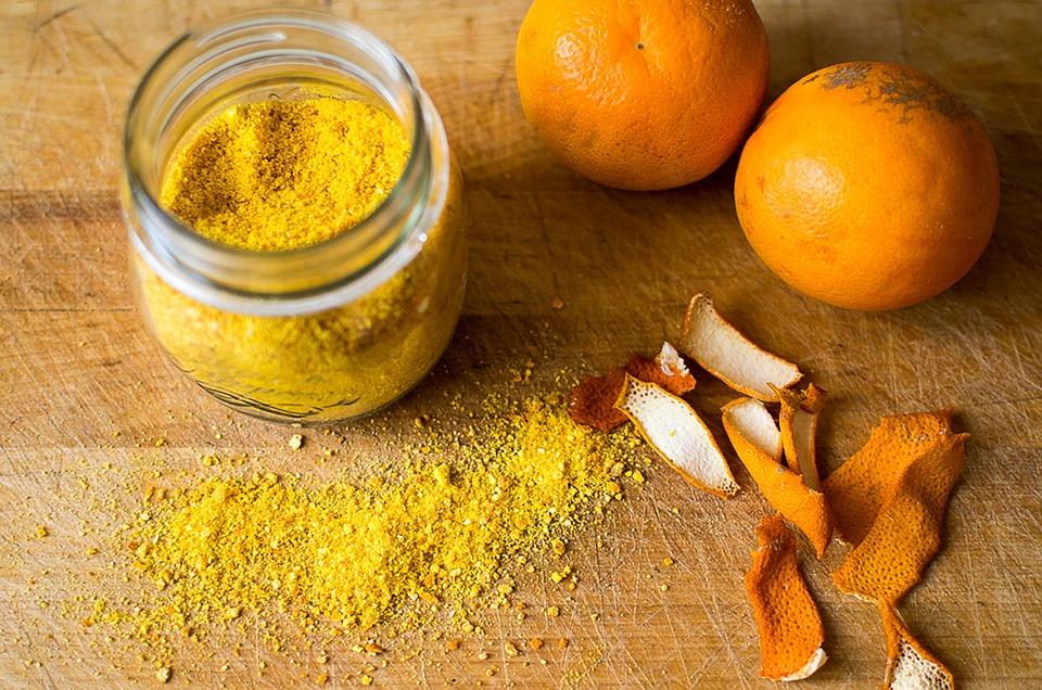 photo masque maison curcuma orange-citron