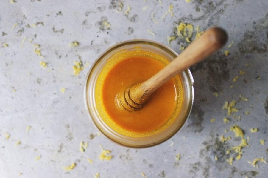 photo masque maison curcuma miel