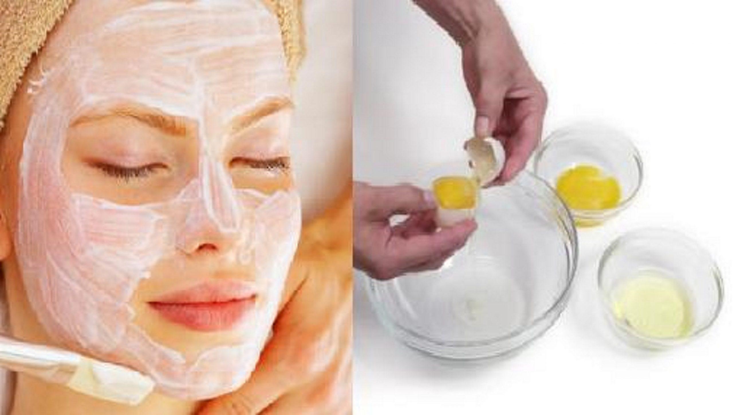 Masque anti acné oeuf blanc