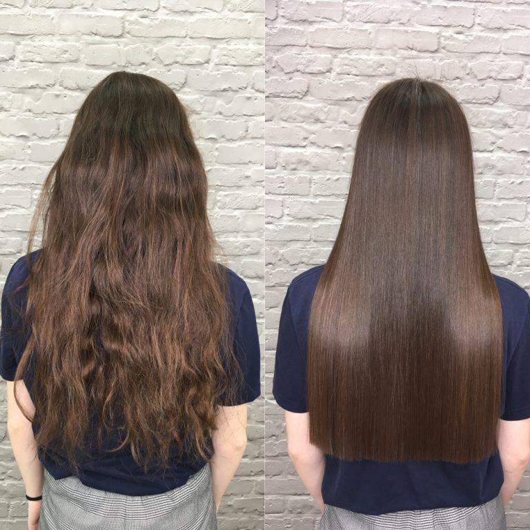 avant et après lissage