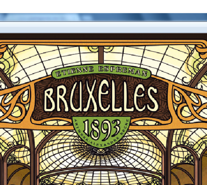 Bruxelles 1893 : from Art-Nouveau to boardgames