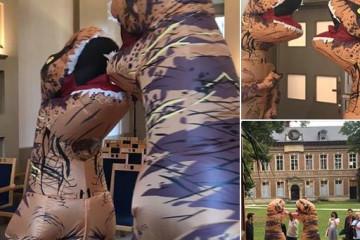 """Un couple de """"dinosaures"""" s'est marié à l'Abbaye de Forest"""