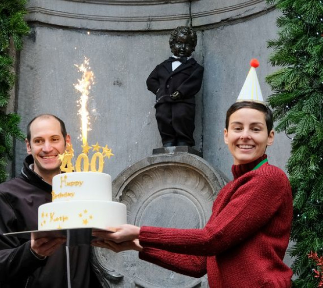 Manneken-Pis enfile son smoking pour son 400e anniversaire