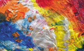 Tapis sensoriel de peinture