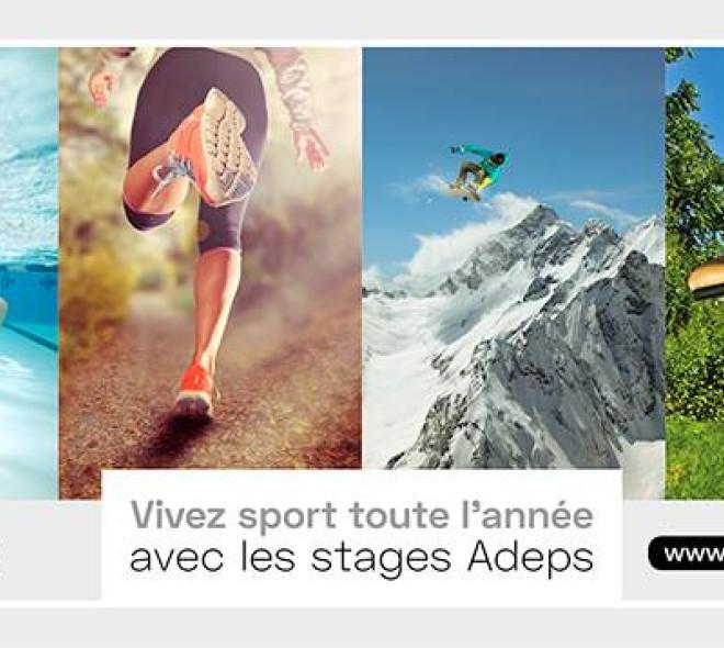 De la mer à la montagne, faites du sport toute l'année avec l'Adeps