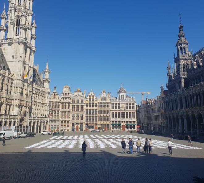 Aujourd'hui sur la Grand Place de Bruxelles