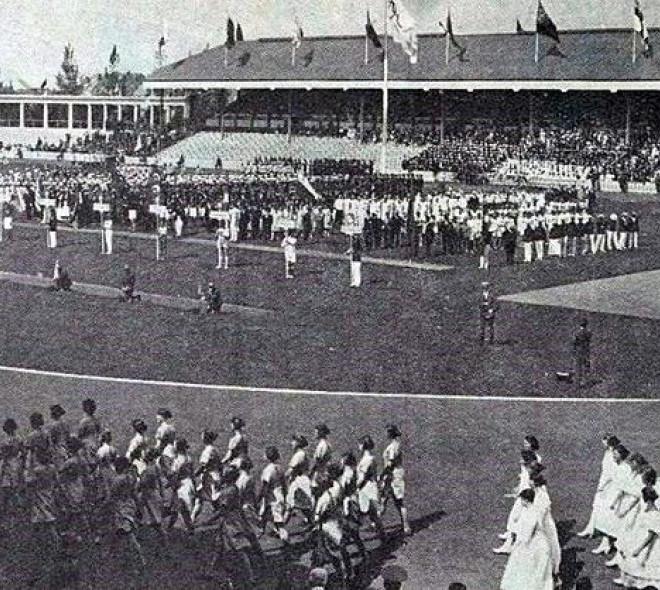La cérémonie d'ouverture des JO de 1920 à Anvers