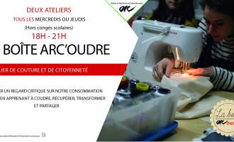 Ateliers de couture et de citoyenneté organisé par la Boîte Arc'oudre