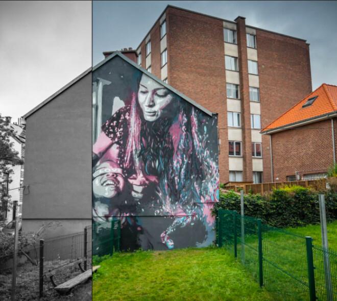 Nouvelle fresque à Bruxelles : FIRST STEPS IN GOOD HANDS