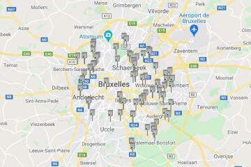 Les radars de Bruxelles, commune par commune