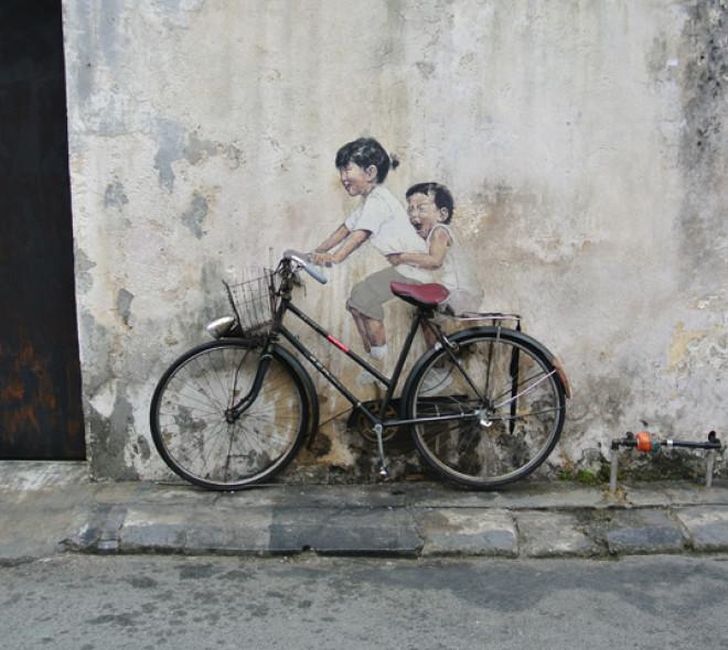 Gegraveerde fiets, beschermde fiets