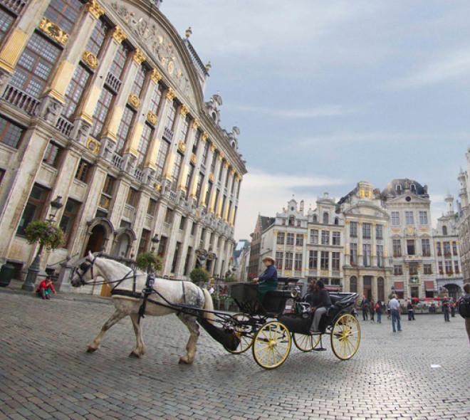 Bezoek het historisch centrum van Brussel met de paardenkoets