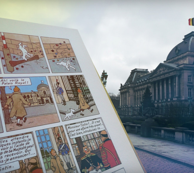 References to Brussels in the Adventures of Tintin