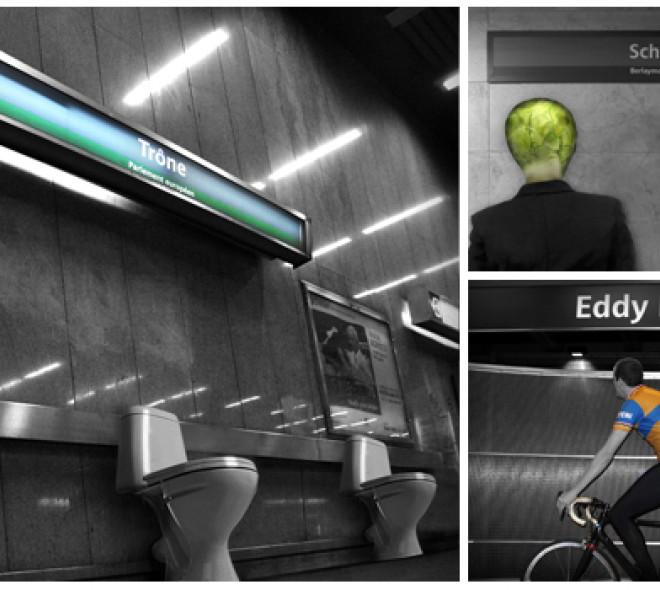 Woordspelletjes op de metro…