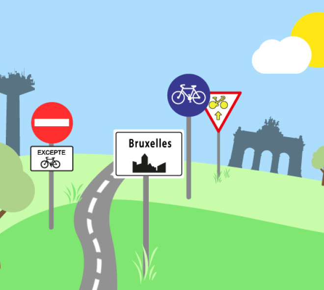 Survival guide for the biker in Brussels