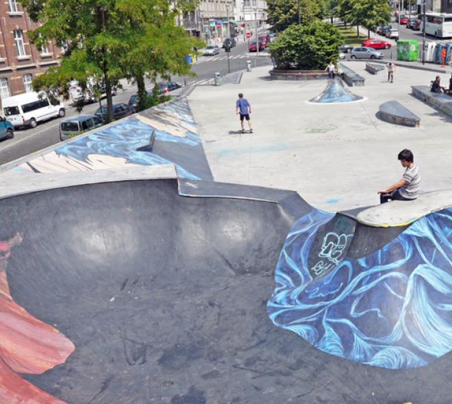Skateboarding in Brussels