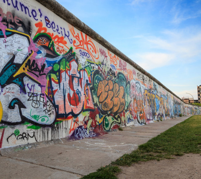 3 Sections of the Berlin Wall in Brussels