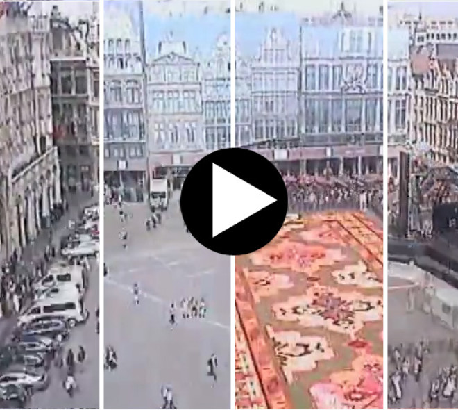 The year of 2014 on the Grand Place in 52 seconds