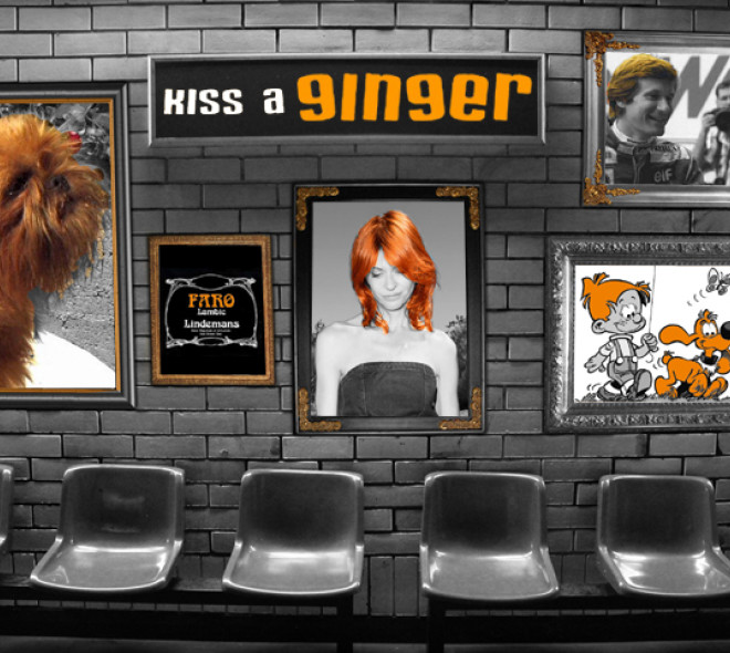 Kiss a ginger day in Brussels
