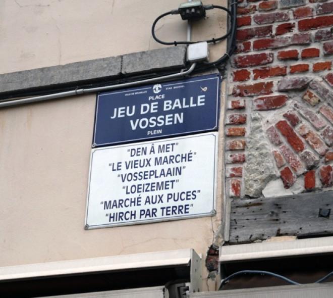 Quand les rues bruxelloises jouent avec les traductions...