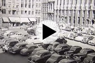 Brussels: traffic then and now...