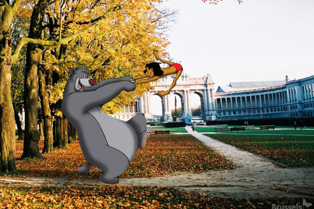 25 Disney characters on a tour in Brussels