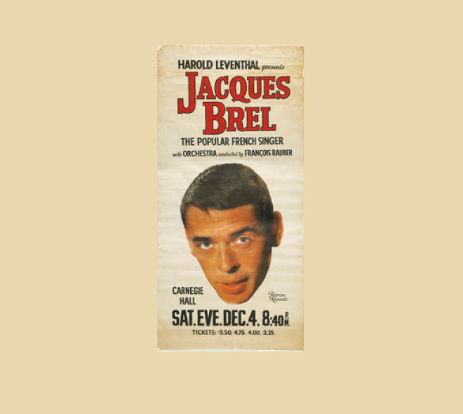 Jacques Brel @ New York