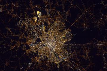 Bruxelles vue depuis l'espace