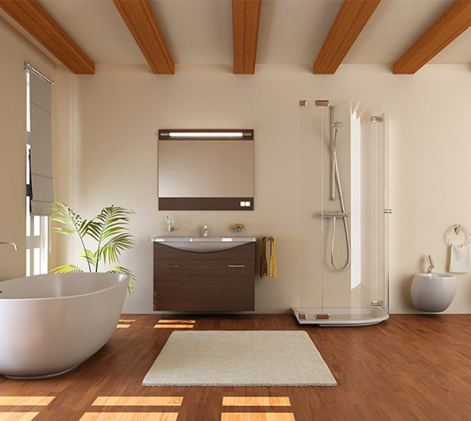 Des sols de salle de bain tout doux